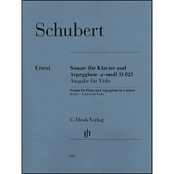 G. Henle Verlag Sonata for Piano and Arpeggione A minor D 821 (Op. Posth.) By Schubert (51480612)