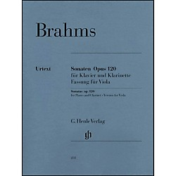 G. Henle Verlag Sonatas For Piano And Clarinet (Or Viola) Opus 120 Nos.1 & 2 (Version For Viola) By Brahms (51480231)