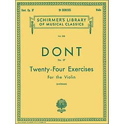 G. Schirmer 24 Exercises Op 37 Violin 24 By Dont (50254330)