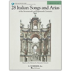 G. Schirmer 28 Italian Songs And Arias For Medium Low Book/CD (50485631)