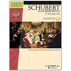 G. Schirmer 4 Impromptus, Op. 90 - Piano - Schirmer Performance Edition Book/CD By Schubert / Gruenberg (296700)