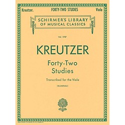 G. Schirmer 42 Studies Transcribed For The Viola By Kreutzer (50261270)