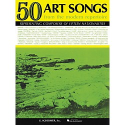 G. Schirmer 50 Art Songs From The Modern Repertoire Voice / Piano (50327540)