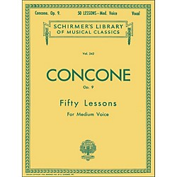 G. Schirmer 50 Lessons, Op. 9 by Concone For Medium Voice (50253720)