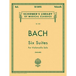 G. Schirmer 6 Suites For Unaccompanied Violoncello Bwv1007-1012 By Bach (50260150)