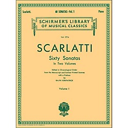 G. Schirmer 60 Sonatas Vol 1 Piano Contains Sonatas No 1 - No 30 By Scarlatti (50261610)