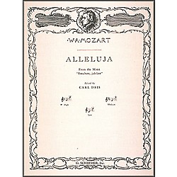 G. Schirmer Alleluja (From Exsultate, Jubilate) For High Voice In F By Mozart (50277660)