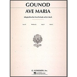 G. Schirmer Ave Maria In F For Medium High Voice By Bach / Gounod (50272110)