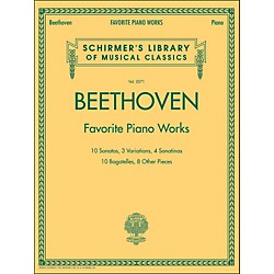 G. Schirmer Beethoven: Favorite Piano Works - Schirmer's Library Of Musical Classics LB 2071 By Beethoven (50486577)