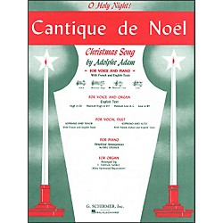 G. Schirmer Cantique De Noel (O Holy Night) For Medium Low Voice In C By Adam / Deis (50281510)