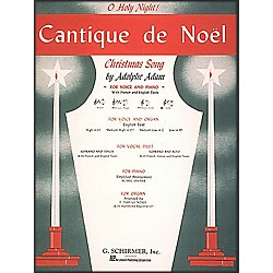 G. Schirmer Cantique De Noel (O Holy Night) In B Flat For Low Voice By Adam / Deis (50279740)
