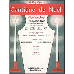 G. Schirmer Cantique De Noel (O Holy Night) In E Flat High Voice By Adam / Deis (50279730)