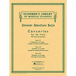G. Schirmer Concerto For Violin In E Major With Piano Reduction By Bach (50257860)