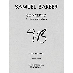G. Schirmer Concerto For Violin Op 14 With Piano Reduction By Barber (50337010)