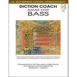 G. Schirmer Diction Coach - Arias For Bass G. Schirmer Opera Anthology Book/2CD's (50486260)