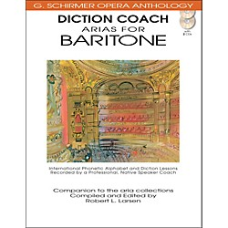G. Schirmer Diction Coach Arias For Baritone - G Schirmer Opera Anthology Book/2CD's (50486259)