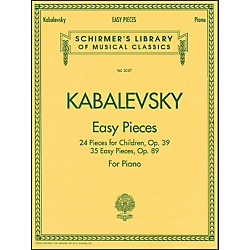G. Schirmer Easy Pieces 24 And 35 Pieces For Children Op 39 Op 89 By Kabalevsky (50483241)