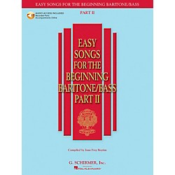 G. Schirmer Easy Songs For The Beginning Baritone / Bass Part II Book/CD (50486245)