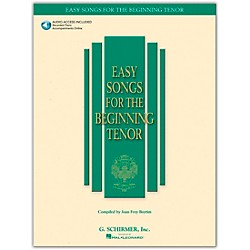 G. Schirmer Easy Songs For The Beginning For Tenor Voice Book/CD (50483758)