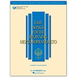 G. Schirmer Easy Songs For The Beginning Mezzo-Soprano / Alto Book/CD (50483757)