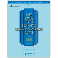 G. Schirmer Easy Songs For The Beginning Mezzo-Soprano / Alto Part II Book/CD (50486243)