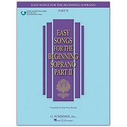 G. Schirmer Easy Songs For The Beginning Soprano Part II Book/CD (50486242)