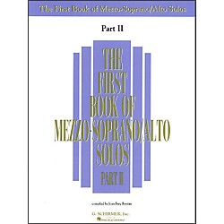 G. Schirmer First Book Of Mezzo-Soprano / Alto Solos Part 2 (50482065)