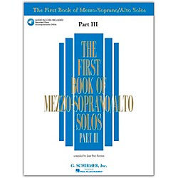 G. Schirmer First Book Of Mezzo-Soprano / Alto Solos Part III Book/2CD's (50485889)