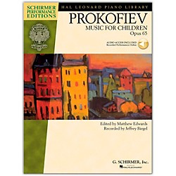 G. Schirmer Music For Children, Op. 65 Schirmer Performance Edition Book/CD By Prokofiev (296755)