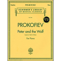 G. Schirmer Peter And The Wolf - Symphonic Tale For Children For Piano By Prokofiev (50483407)