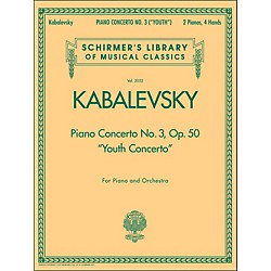 G. Schirmer Piano Concerto No 3 Op 50 2 Pianos 4 Hands Youth Concerto By Kabalevsky (50485536)
