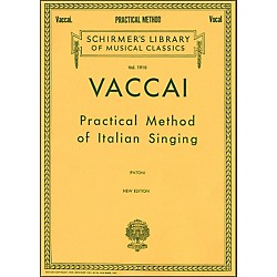 G. Schirmer Practical Method Of Italian Singing For Alto Or Barintone Voice By Vaccai (50262810)
