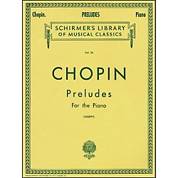 G. Schirmer Preludes For Piano By Chopin (50252250)