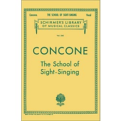 G. Schirmer School Of Sight-Singing - Vocal Practical Method For Young Beginners By Concone (50253750)
