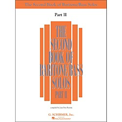 G. Schirmer Second Book Of Baritone  /Bass Solos Part 2 Book Only (50485224)
