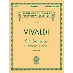 G. Schirmer Six Sonatas For Violoncello And Piano By Vivaldi (50261790)