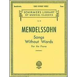G. Schirmer Songs Without Words For Piano By Mendelssohn (50252440)