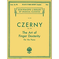 G. Schirmer The Art Of Finger Dexterity Op 740 Complete By Czerny (50253100)