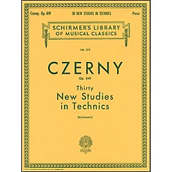 G. Schirmer Thirty New Studies In Technics Op 849 Etudes De Mecanisme 30 By Czerny (50253950)