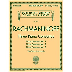 G. Schirmer Three Piano Concertos - Concerto Nos. 1 2 3 - 2 Pianos/4 Hands By Rachmaninoff (50490013)