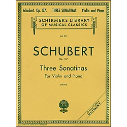 G. Schirmer Three Sonatinas Op 137 Violin/Piano 3 By Schubert (50256940)