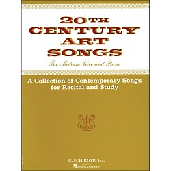 G. Schirmer Twentieth (20th) Century Art Songs Medium Voice For Recital And Study (50331200)