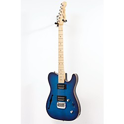 G&L ASAT Deluxe Semi-Hollow Electric Guitar (USED005001 GC-ASTDT-BLUBR)