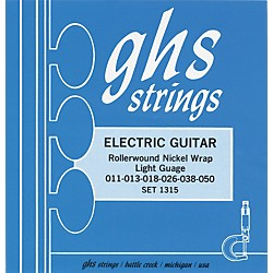 GHS 1315 Rollerwound Nickel Wrap Light Strings (1315)
