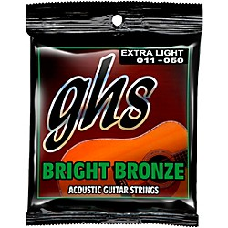 GHS BB20X 80/20 Bronze Extra Light Acoustic Guitar Strings (BB20X)