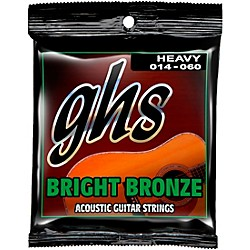 GHS BB50H 80/20 Heavy Bronze Acoustic Guitar Strings (BB50H)