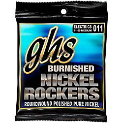 GHS BNR-M Burnished Nickel Medium Electric Guitar Strings (BNR-M)