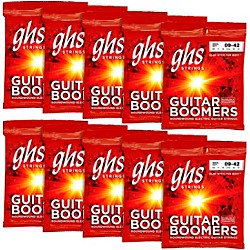 GHS Boomers Extra Light Electric Guitar Strings (10-Pack) (GBXL-10)