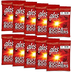 GHS Boomers Light Roundwound Electric Guitar Strings (10-Pack) (GBL-10)