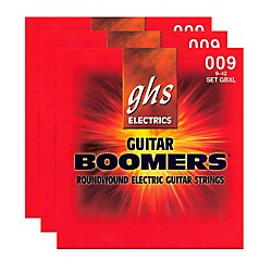 GHS GBXL BOOMER 3-PACK ELECTRIC GUITAR STRINGS (GBXL-3CL)